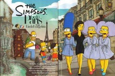 Simpson alla moda con Linda Evangelista su Harper's Bazaar