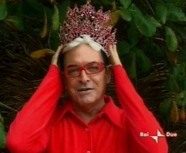 La regina Malgioglio di nuovo sull'Isola