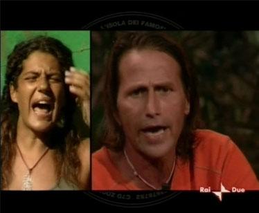Manuela e Claudio discutono in puntata