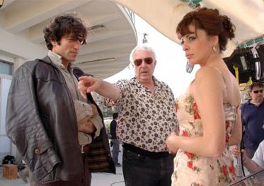 Brando Giorgi e Elena Russo con il regista Luciano Odorisio