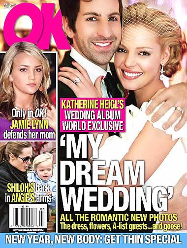 Su OK! Magazine le foto delle nozze Heigl – Kelley