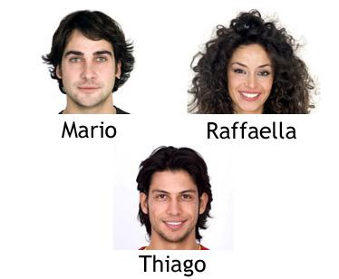 Raffaella, Mario e Thiago