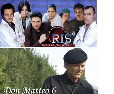 RIS 4 e Don Matteo 6 monopolizzano il giovedì