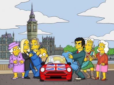 Gordon Brown nei Simpson, ma doppiato