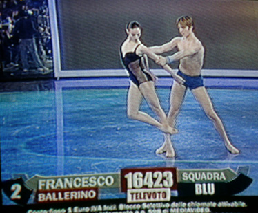 Francesco balla con Anbeta