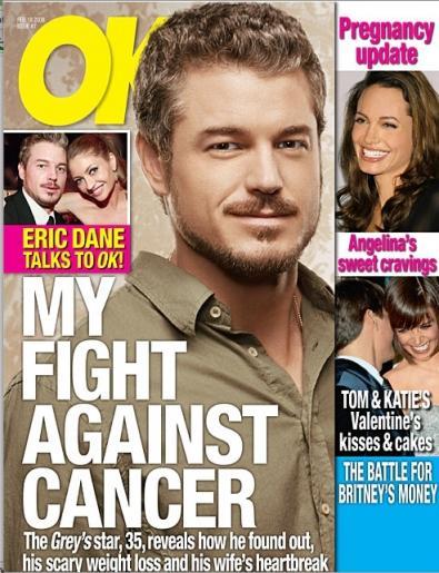 Eric Dane (Dr Bollore) sconfigge il cancro alla pelle