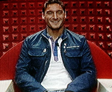 Francesco Totti in Confessionale