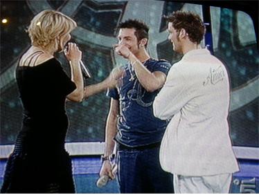 Maria, Marco e Pasqualino prima delle carte finali