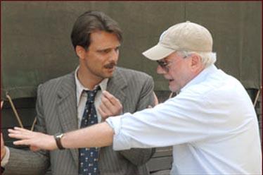 Alessandro Preziosi e il regista Antonio Frazzi