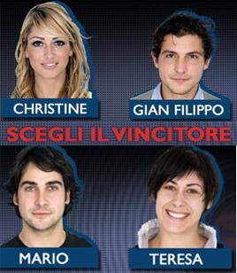 Grande Fratello 8, blogcronaca della semifinale. Escono Lina e Francesco. In finale Christine, Mario, Jean e Teresa.