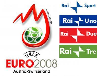 Europei di Calcio 2008, tutti gli appuntamenti di RaiUno, RaiDue e RaiTre