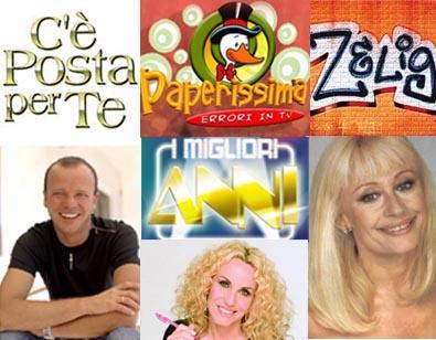Gli show di RaiUno e Canale 5 per il prime time dell'autunno 2008
