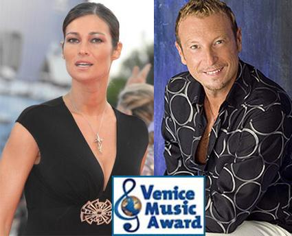 Manuela Arcuri e Amadeus in Rai per il Venice Music Awards