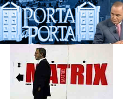 Porta a Porta e Matrix anche d'estate, tra cronaca e gossip