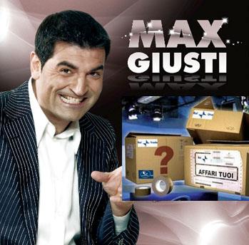 Max Giusti è il nuovo conduttore di Affari Tuoi