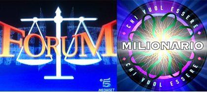 Su Canale 5 tornano Forum e il Milionario
