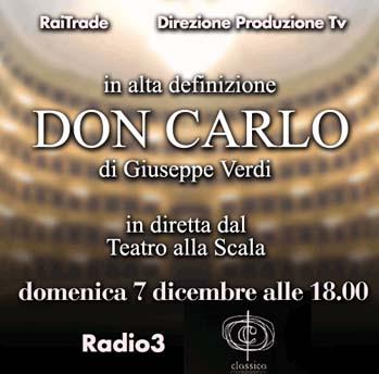 Don Carlo alla Scala: diretta Sky grazie alla Rai