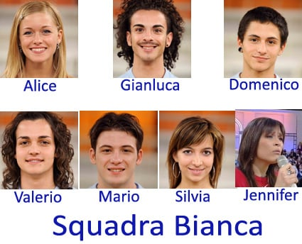 Amici 8, Squadra Bianca