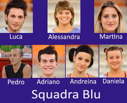 Amici 8, Squadra Blu