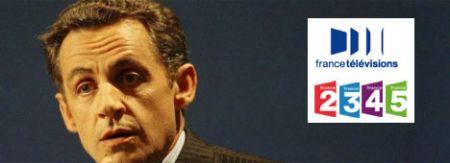 Nicolas Sarkozy, Tv pubblica francese