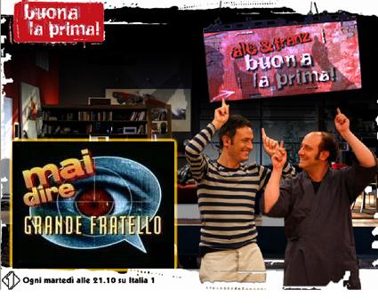 Italia1: raddoppia Mai Dire GF, torna Buona La Prima