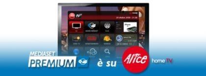 Mediaset Premium da oggi anche su Alice Home Tv