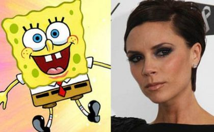 Victoria Beckham doppiatrice per Spongebob?