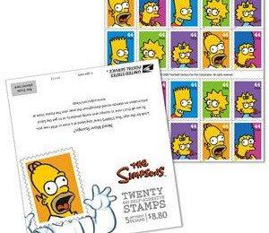 I francobolli dei Simpson diventano realtà (fotogallery)