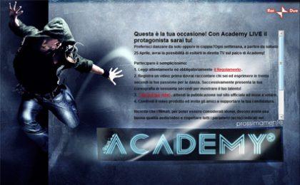Academy inizia sul web con Academy Live