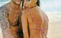 Nina Moric con Massimo alle Maldive