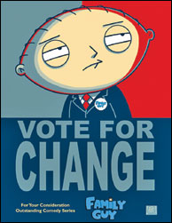 """Vote for Change"", I Griffin si candidano agli Emmy con Obama"