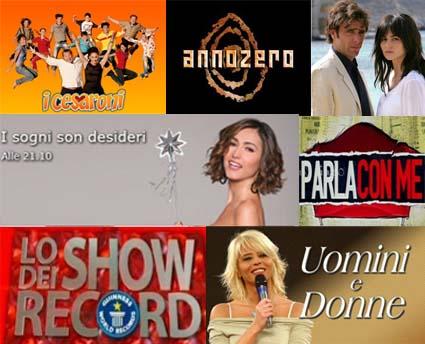 Palinsesti, l'offerta tv dal 24 al 31 maggio