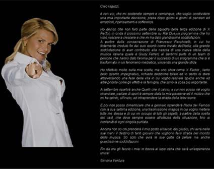 Simona Ventura, ecco perché lascia XFactor 3