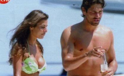 Marco Borriello al mare con Susanna Petrone