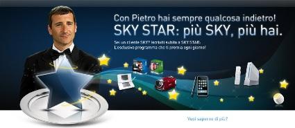 Sky premia i suoi abbonati con la raccolta punti Sky Star