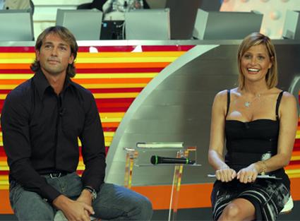 Simona Ventura e Stefano Bettarini insieme a Quelli che il Calcio