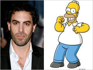 """""""Borat"""" nei Simpson, Gossip Girl, debutti FX, Tara, Heroes: casting e novità"""