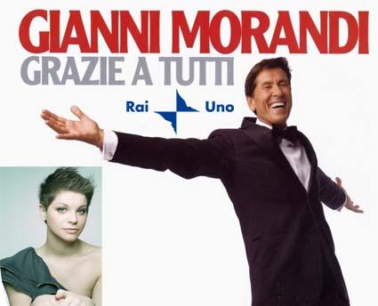 Gianni Morandi su RaiUno con Alessandra Amoroso