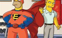Seth Rogen sceneggiatore/guest star ne I Simpson con Homer supereroe
