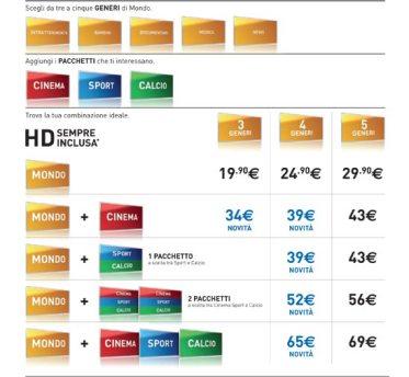 Listino HD Sky