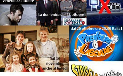 Rai e Mediaset: palinsesti stravolti dal 23 ottobre
