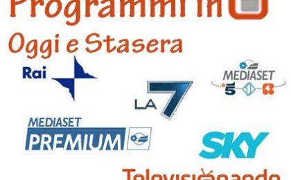 Oggi in Tv: i programmi di lunedì 12 ottobre