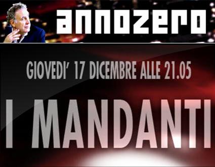 Annozero, nel mirino di Agcom, sui Mandanti dell'agguato a Berlusconi