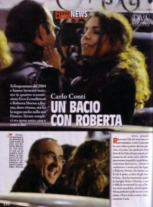 Carlo Conti: è flirt con Roberta  Morise?