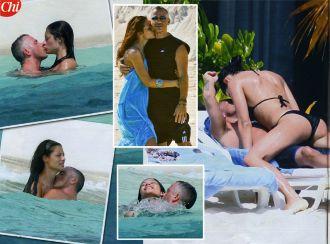 Eros Ramazzotti, baci sotto il sole con Marica