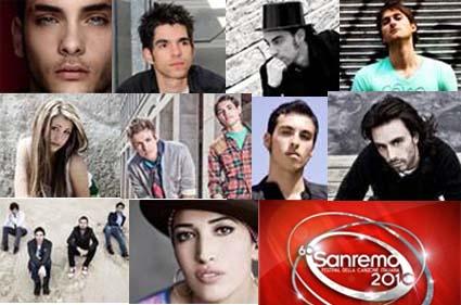 Sanremo 2010, i cantanti della Nuova Generazione