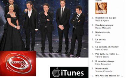 Sanremo 2010, la classifica di I Tunes