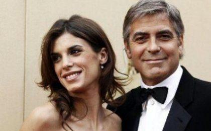 Elisabetta Canalis e George Clooney in crisi per il poker