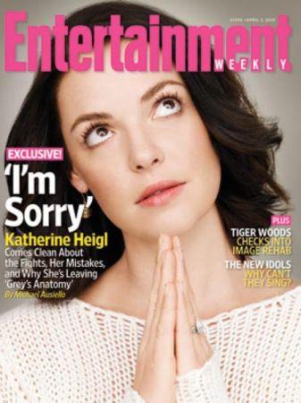 """Katherine Heigl ad EW: """"Lascio Grey's Anatomy"""""""