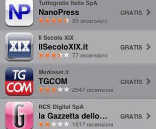 Televisionando nell'App di Nanopress: primo nella top news gratuite su IPhone